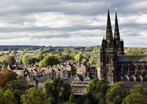 Lichfield, England - March 9, 2014 - Buildings Including The ...